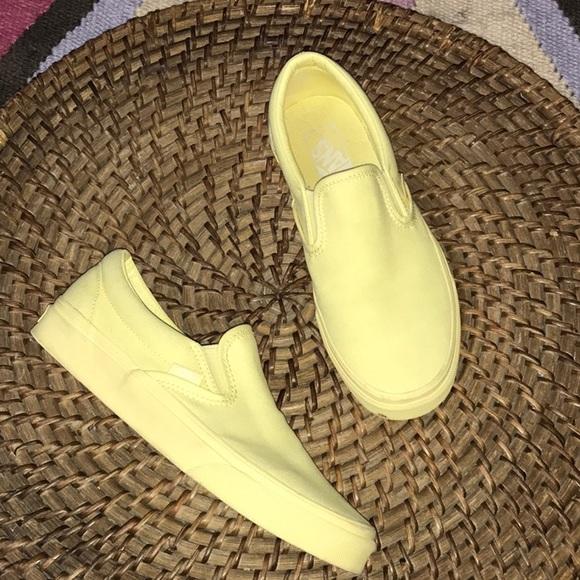 Htf Pale Yellow Monochromatic Vans